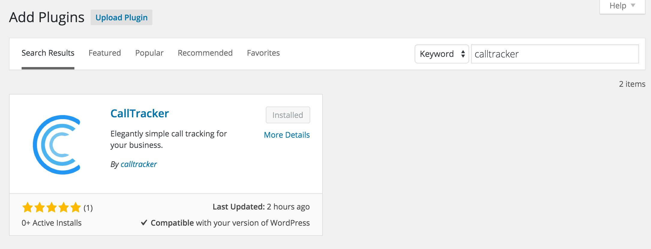 wordpress plugin install integration