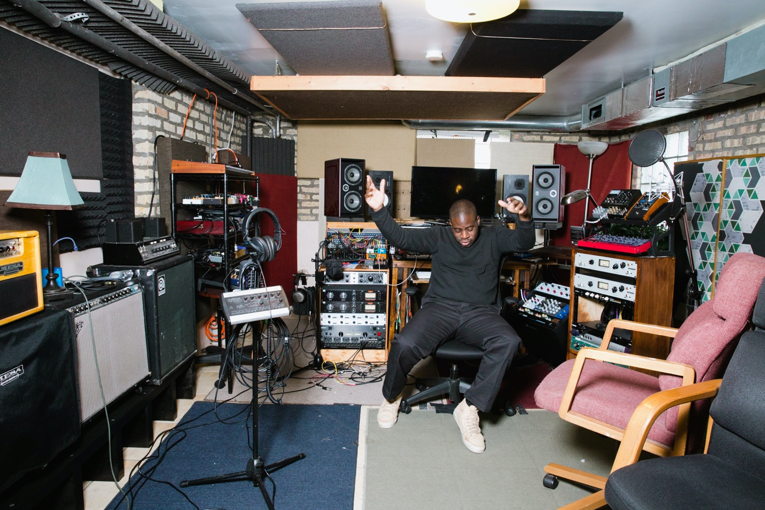 NNAMDÏ in his recording studio