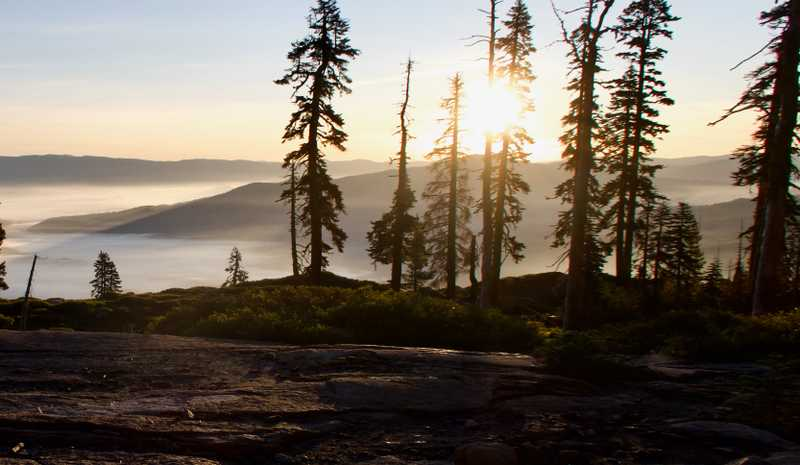 Sunrise on the PCT in Plumas National Forest