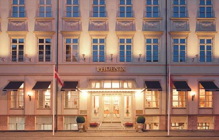 en smuk facade paa det dejlige hotel