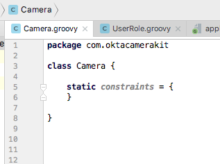 Camera constraints in groovy