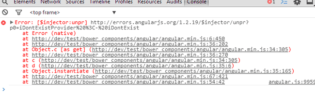angular minified error