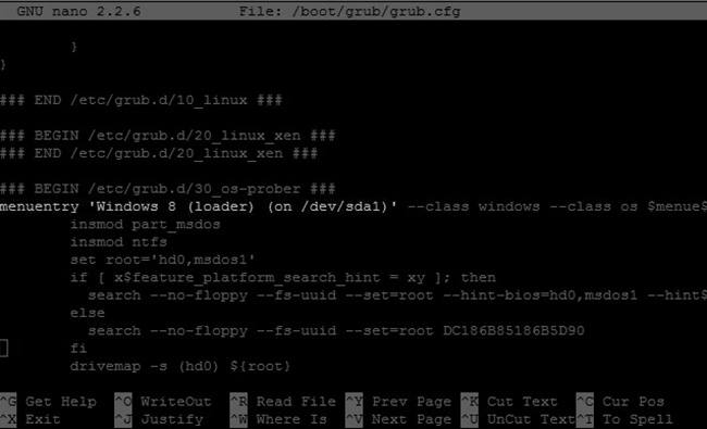 How to restore GRUB in Arch Linux