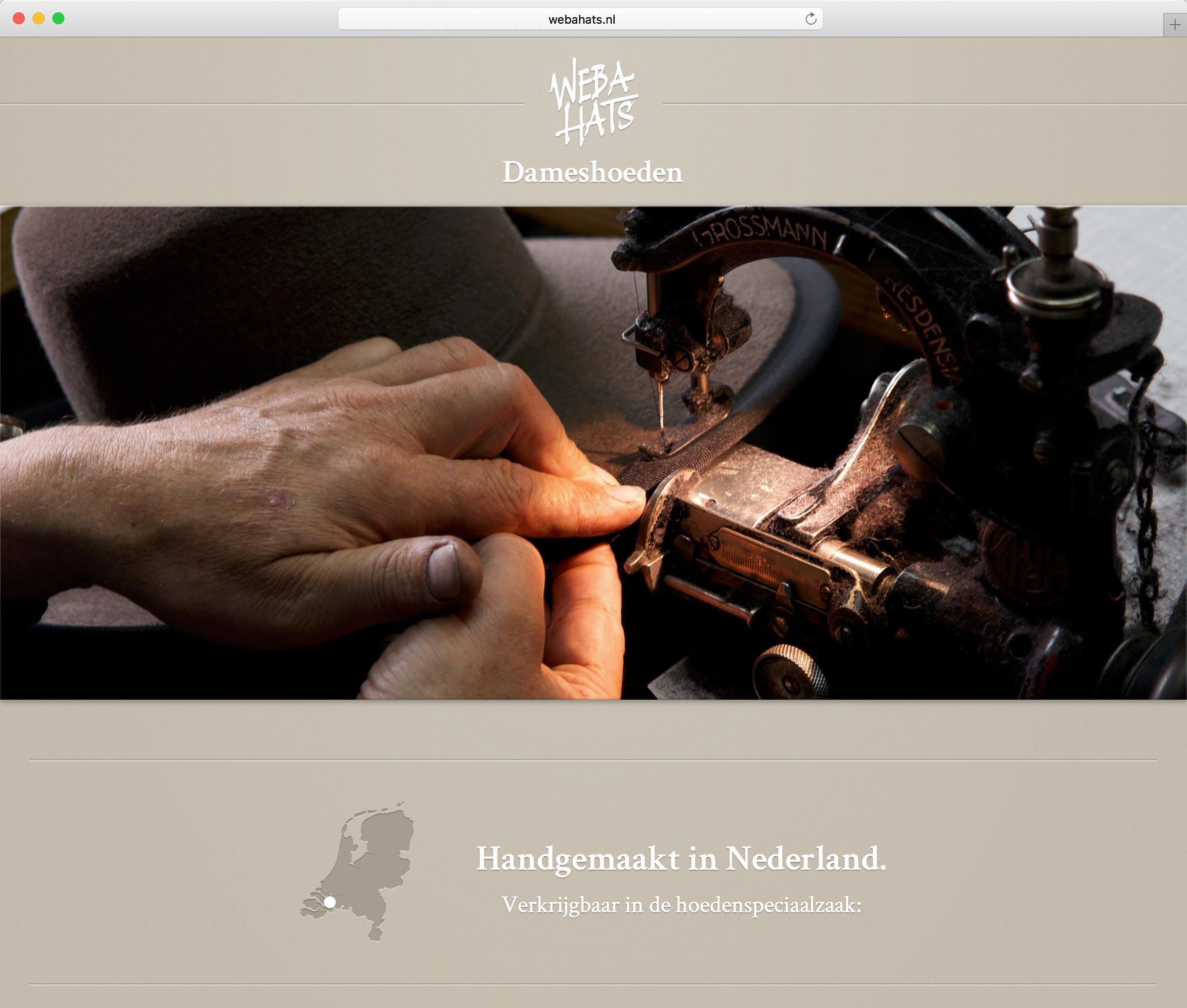 webahats.nl home page