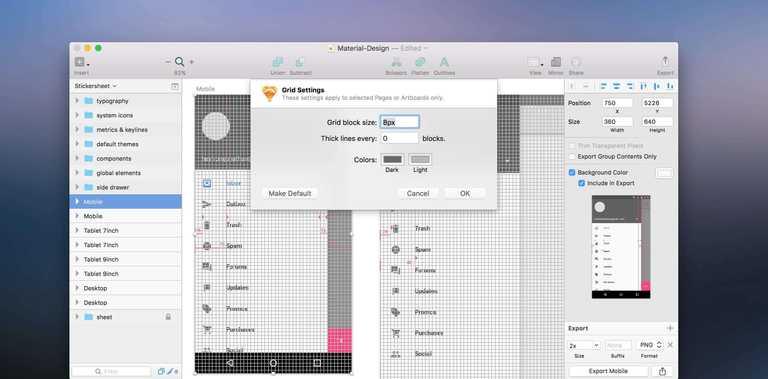 sketch design grid