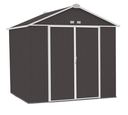 8x7 EZEE Shed in Charcoal with Cream Trim