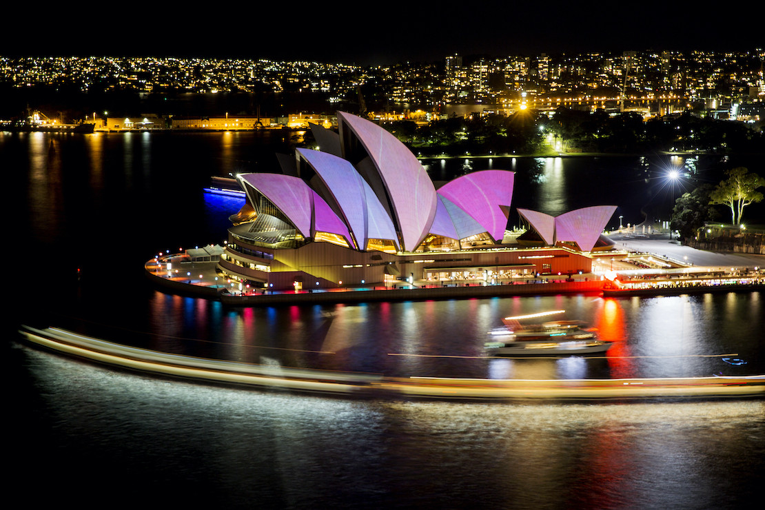 Opera House during Vivid Festival (credit: Destination NSW)