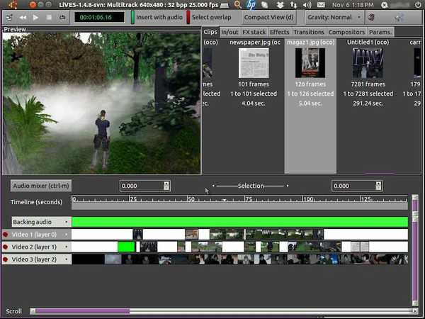 LiVES open source video editing software