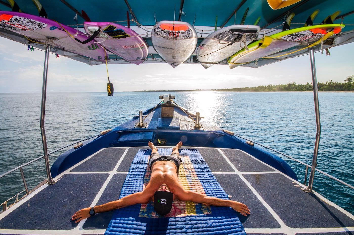 King Millenium Surf Charter Boat Mentawai Islands Decks