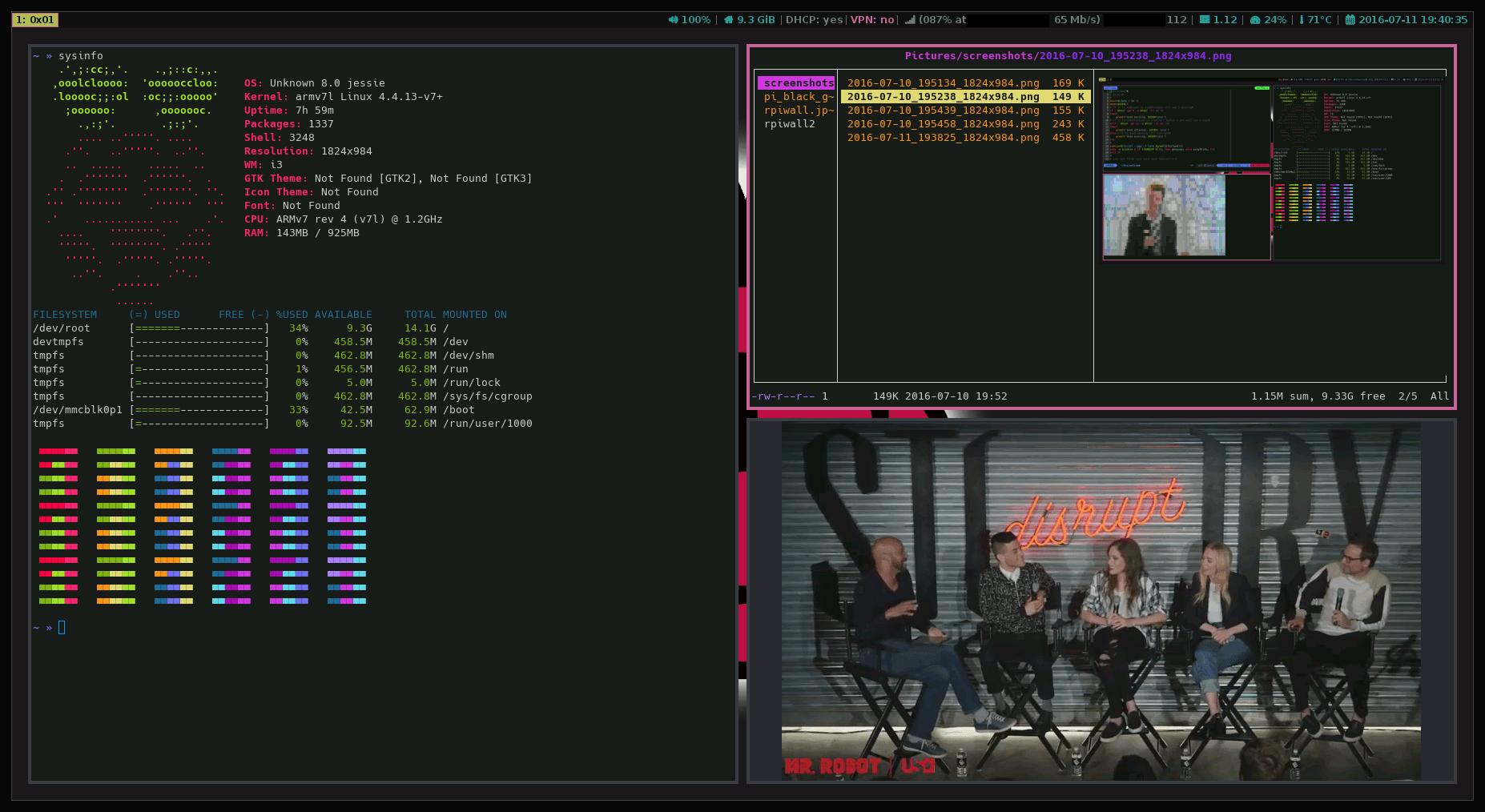 RPI3: Raspbian, i3wm-gaps