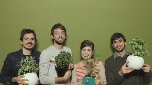 Il team di Bulbo. Da sinistra: Zeno A.I Pasquini Jossen, Lorenzo Antonioni, Sara Pellegrini e Tommaso Marzioni (courtesy Bulbo)