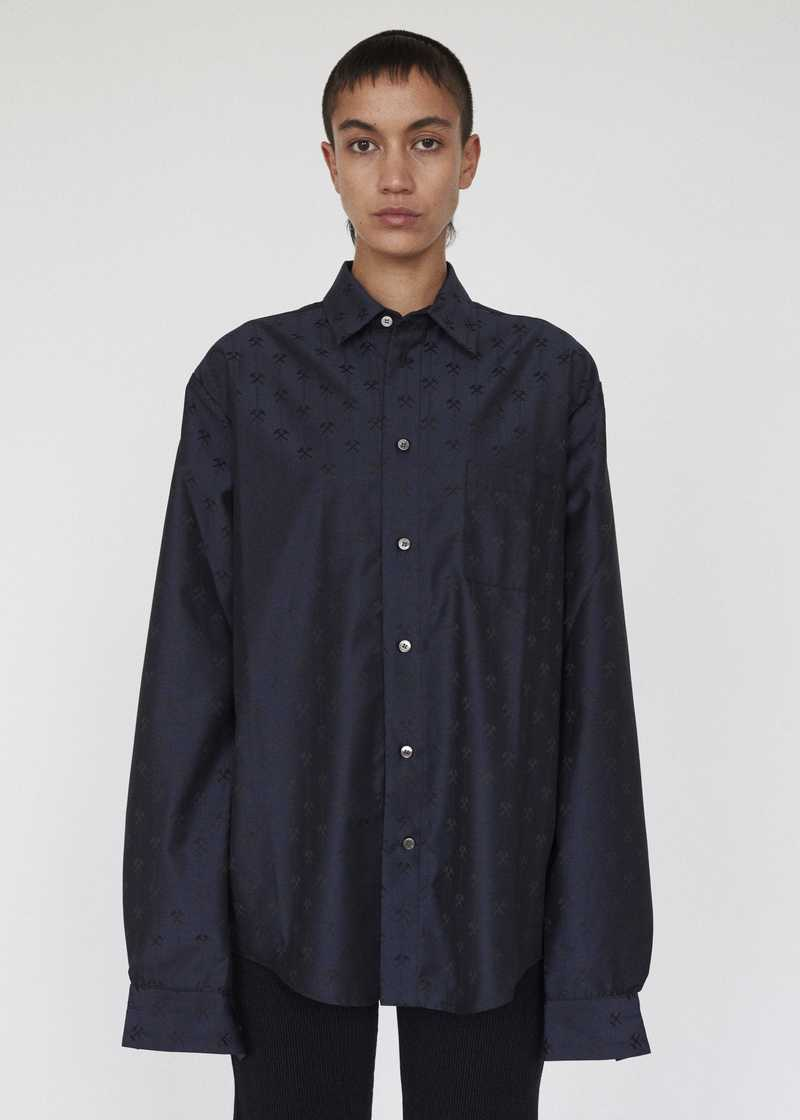 LINUS GMBH AW19 SHIRT NAVY FRONT