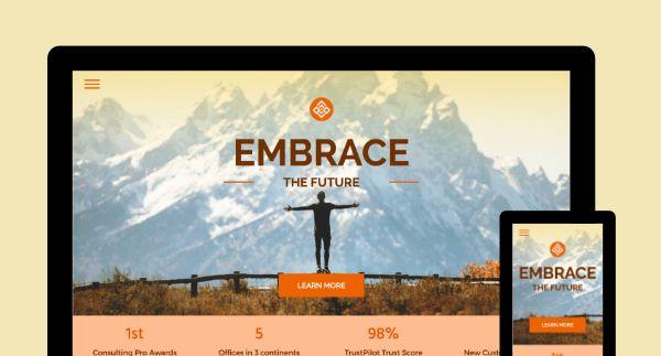 Embrace Template Screenshot