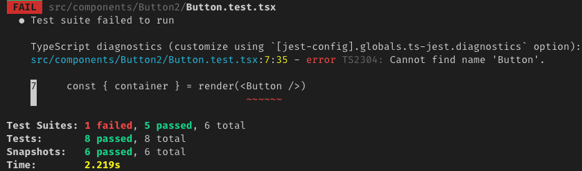First Failing Test - React Testing Library
