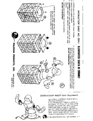 Poloron Products Illuminated Santa in Chimney #C89-1 Instruction Manual preview