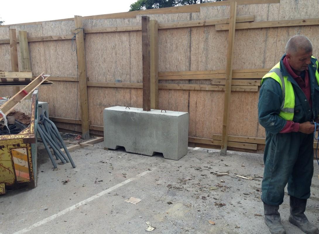 1.5m Concrete Barrier in Situ