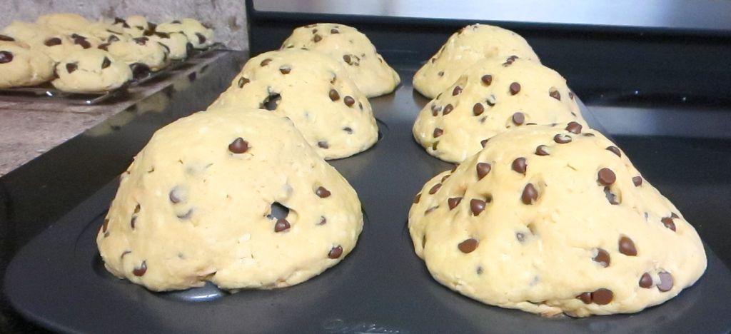 baked vegan cookie bowls