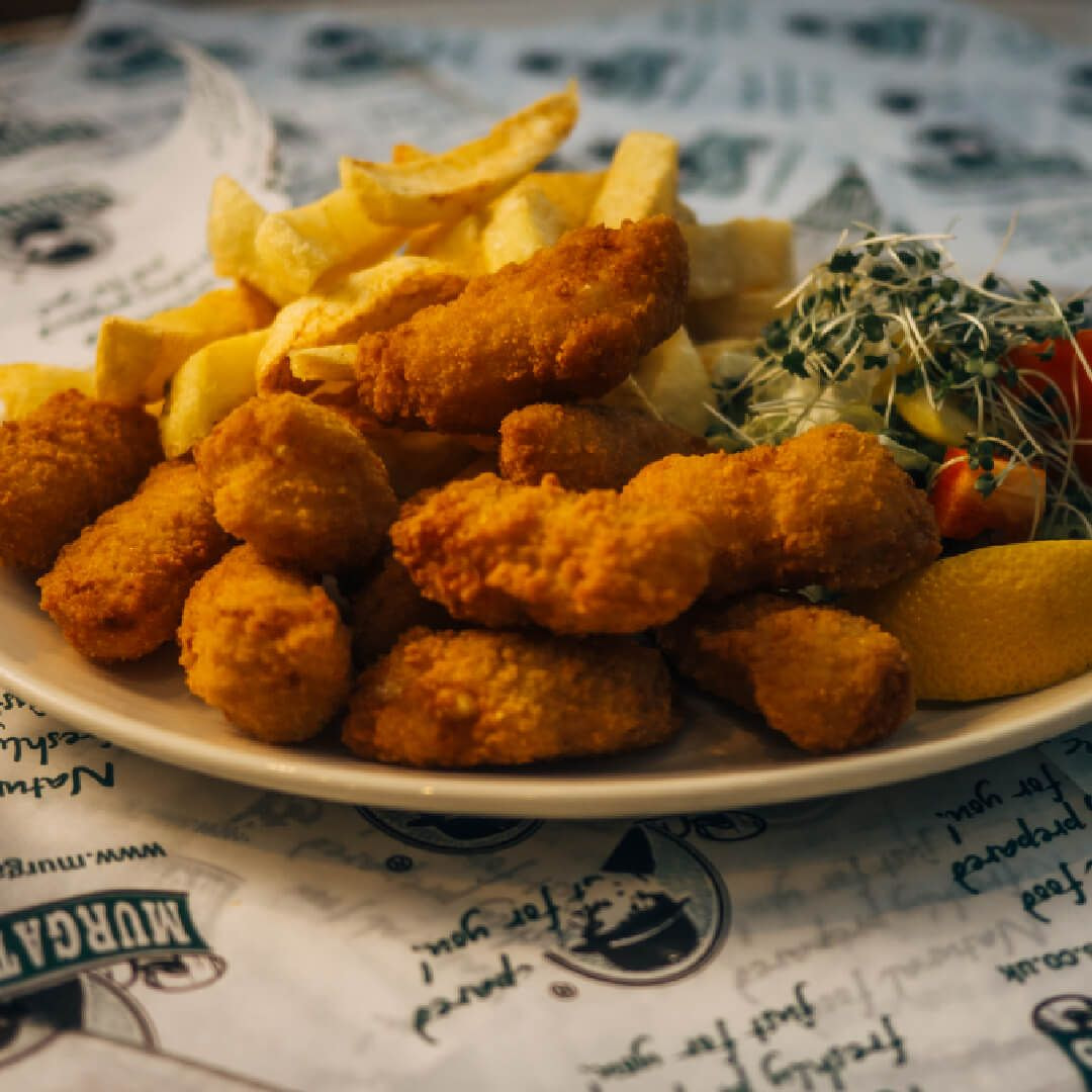 Murgatroyds scampi and chips