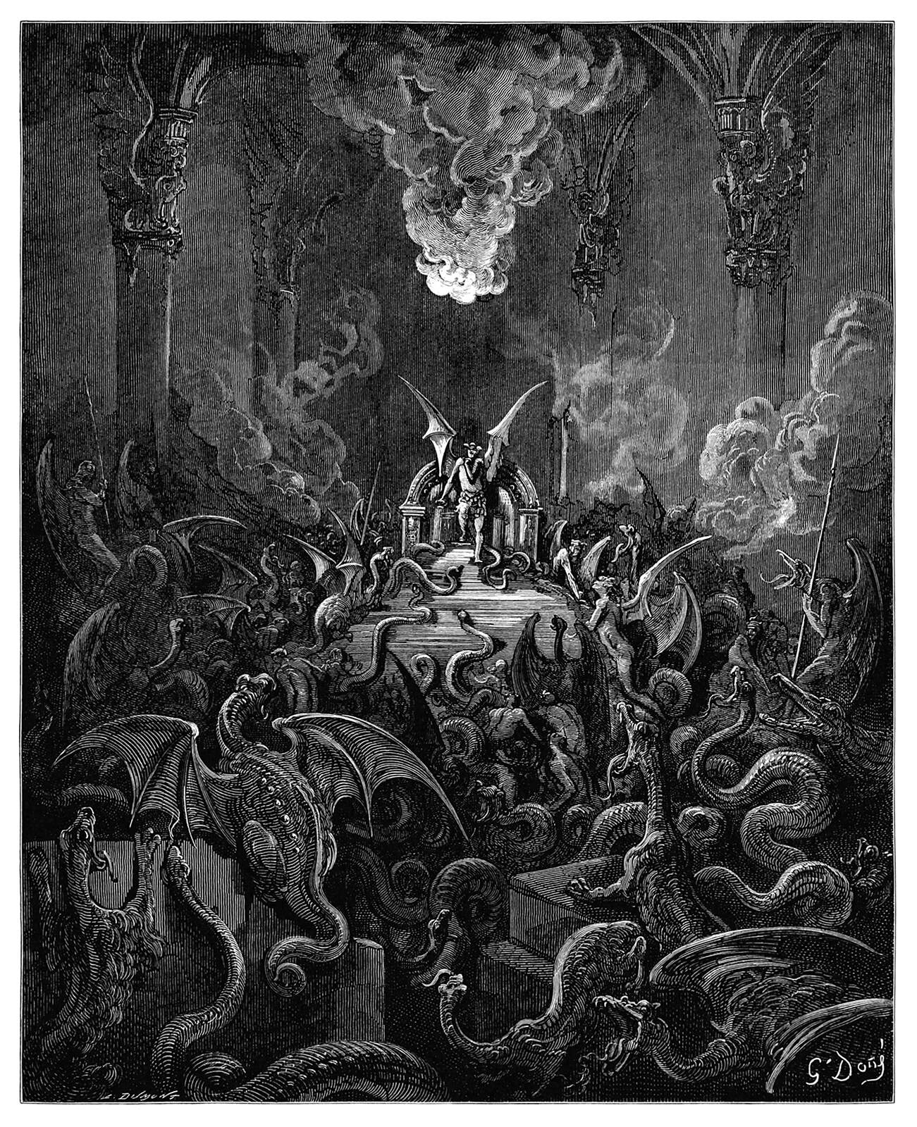 Demons gather in hell