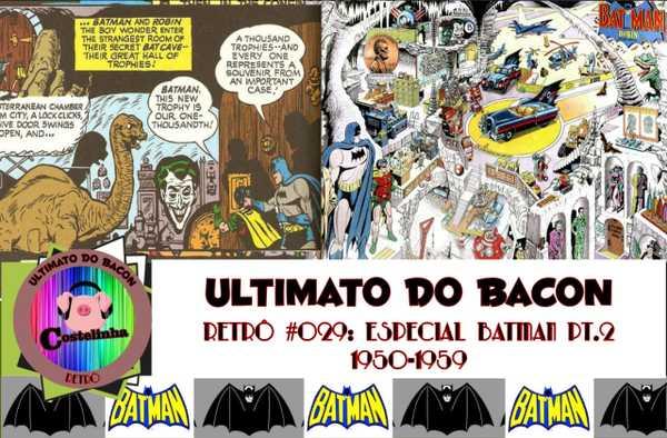 Imagem com desenhos do Batman e sua Batcaverna