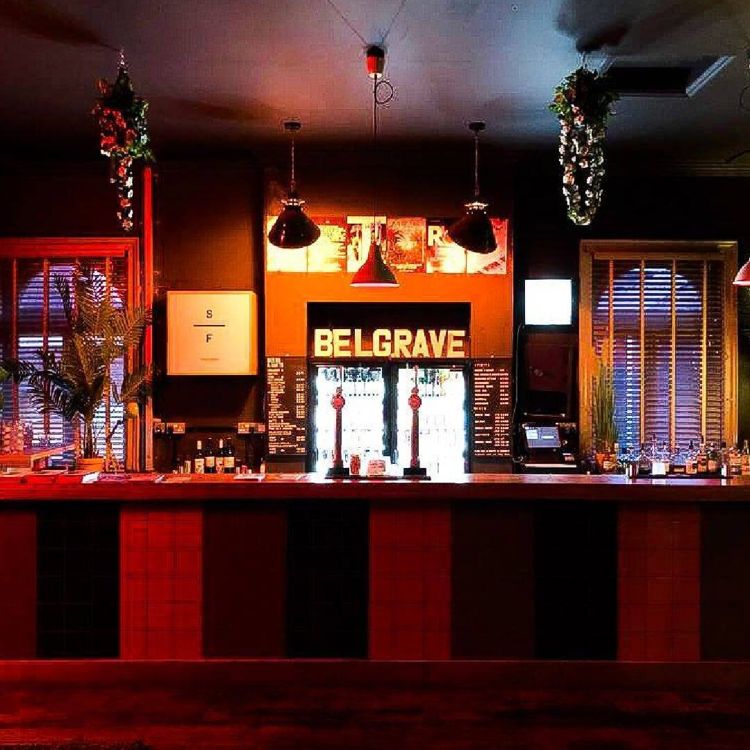 Belgrave Music Hall indoor bar