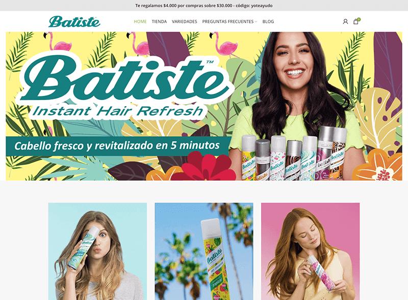 Captura de Pantalla de Batiste.cl