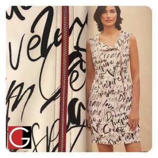 joseph Ribkoff Motivational Sleeveless Dress