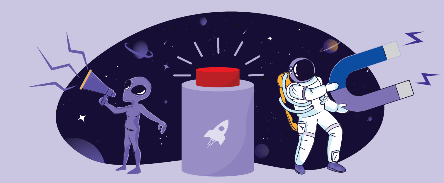 illustration of the blog post: The Galactic Fed Guide to High-Converting Calls to Action