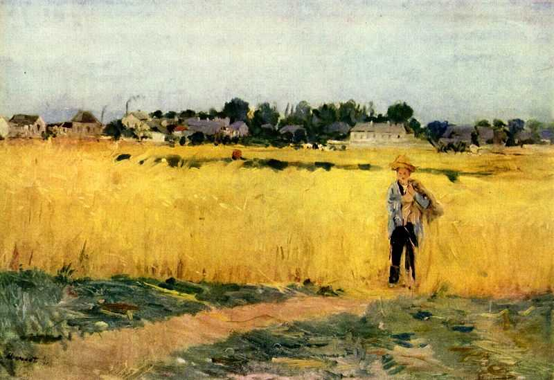 'Grain field' painted by Berthe Morisot in c. 1875, Musée d'Orsay