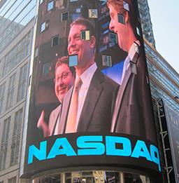 NASDAQ Times Square banner