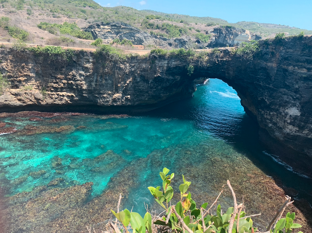 A picture of a the hidden beach.