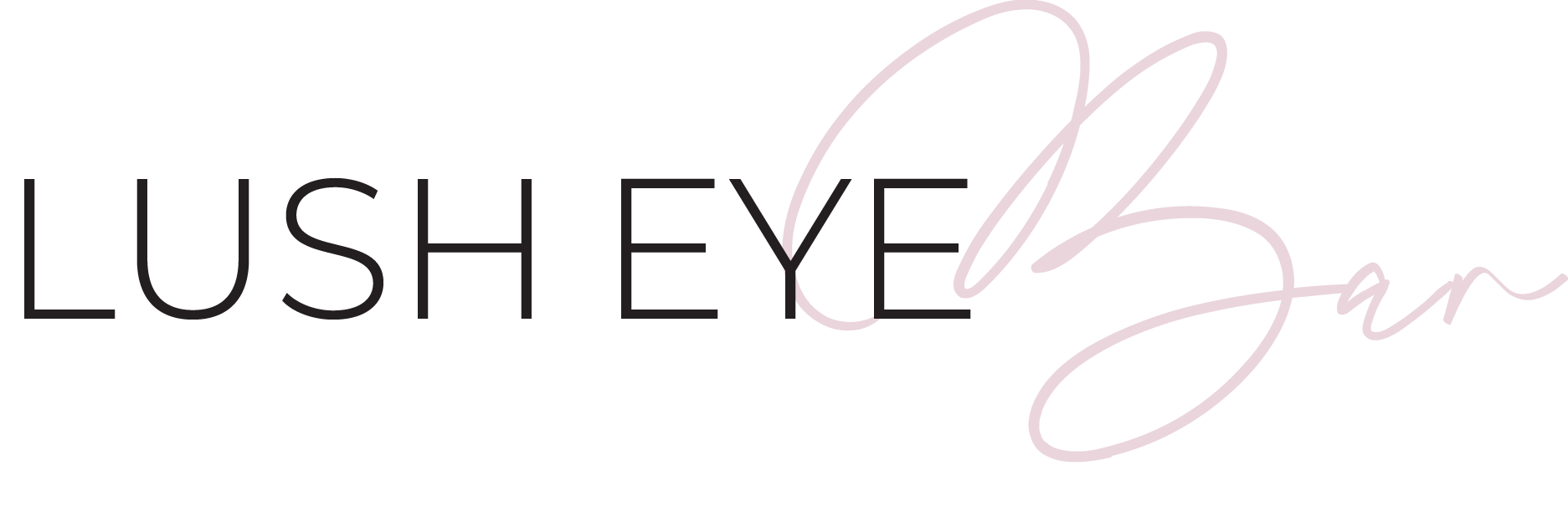 Lush Eye Bar's, an eyelash extension salon's logo