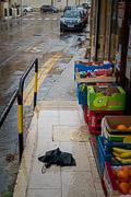 Somebody lost their umbrella on this rainy day.  Victoria, Gozo, Malta, 2019