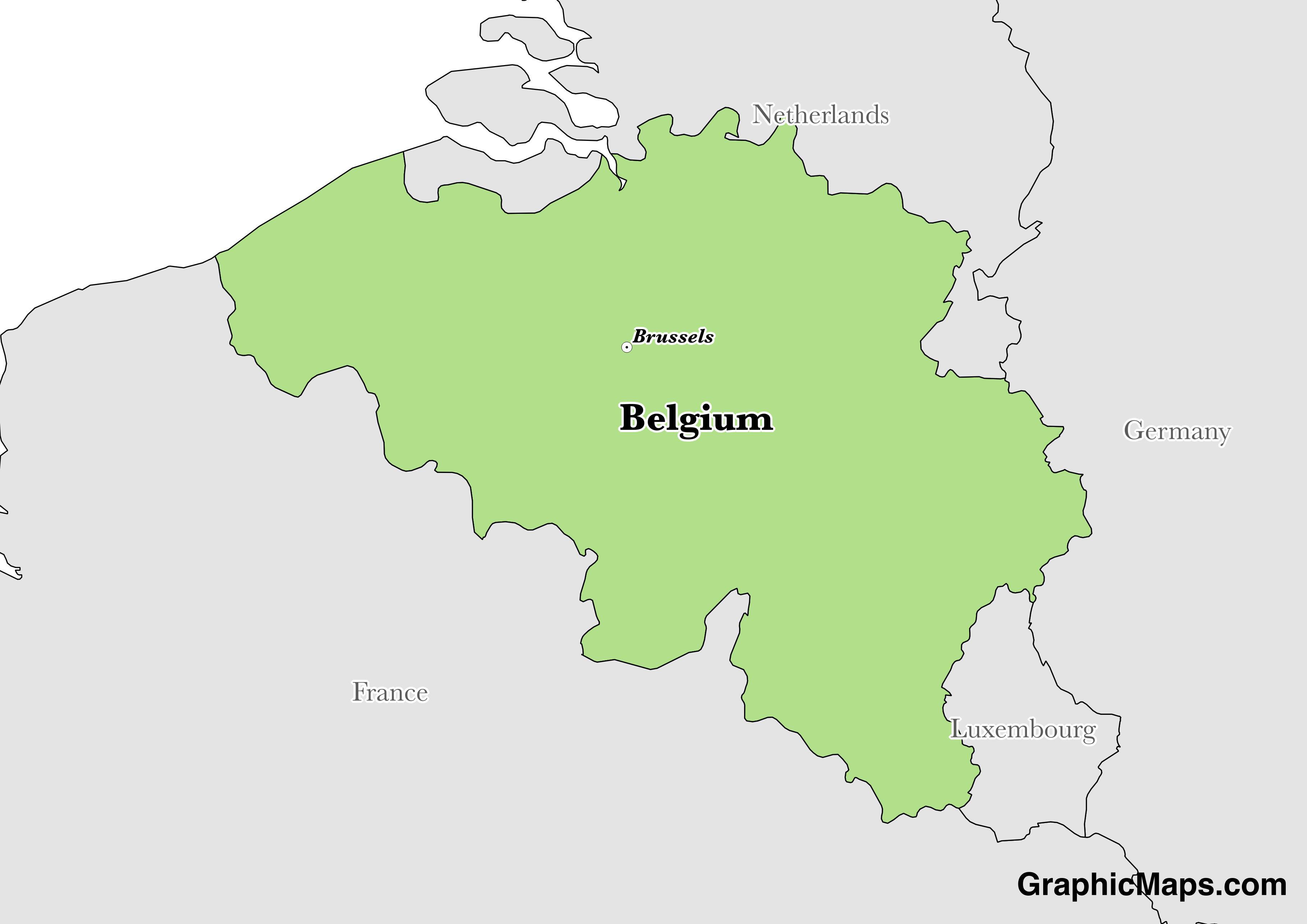 Belgium / GraphicMaps.com