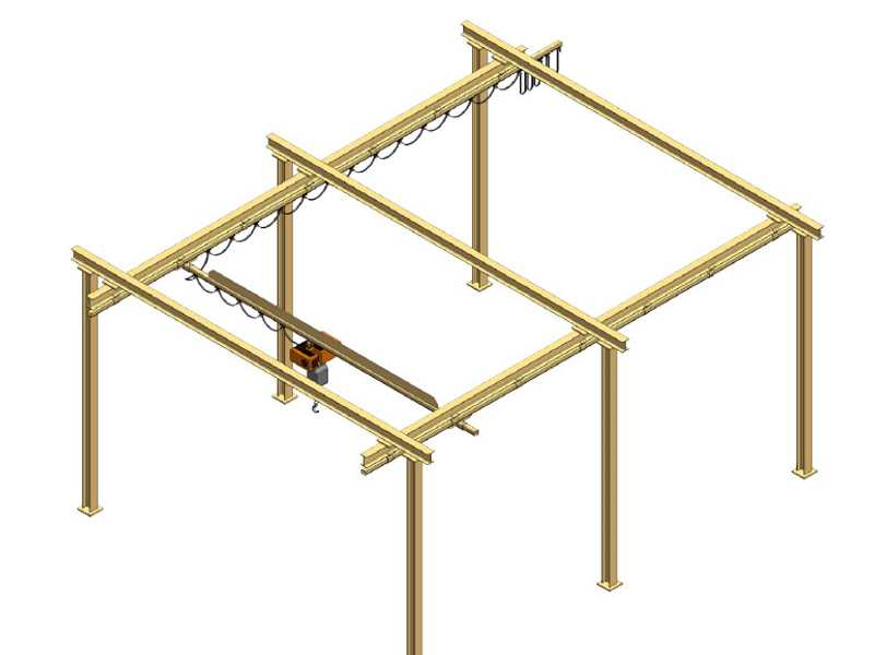 free standing bridge crane