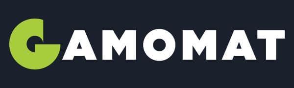 Gamomat Banner Logo auf Hintergrundfarbe