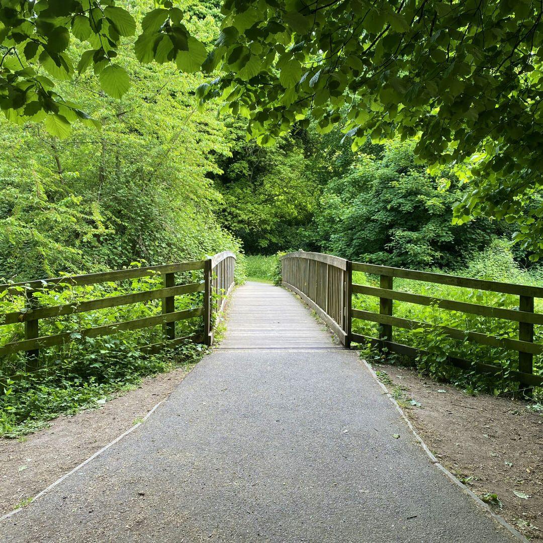 Kirkstall Abbey Footpath over stream