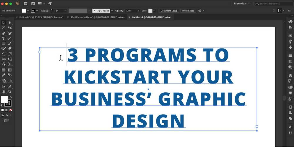 3 Programs to Kickstart your Business' Graphic Design