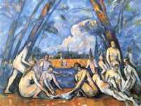The Bathers is an oil painting by French artist Paul Cézzane first exhibited in 1906. The painting, which is exhibited in the Philadelphia Museum of Art,