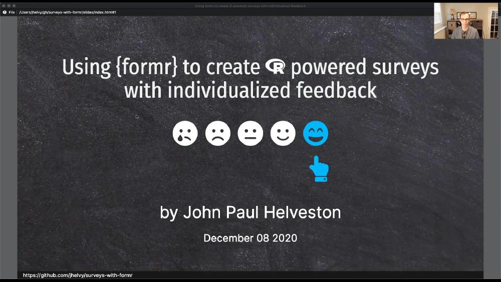 Using formr to create R-powered surveys with individualized feedback