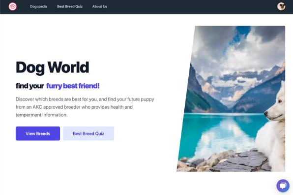 Screenshot of Dog World