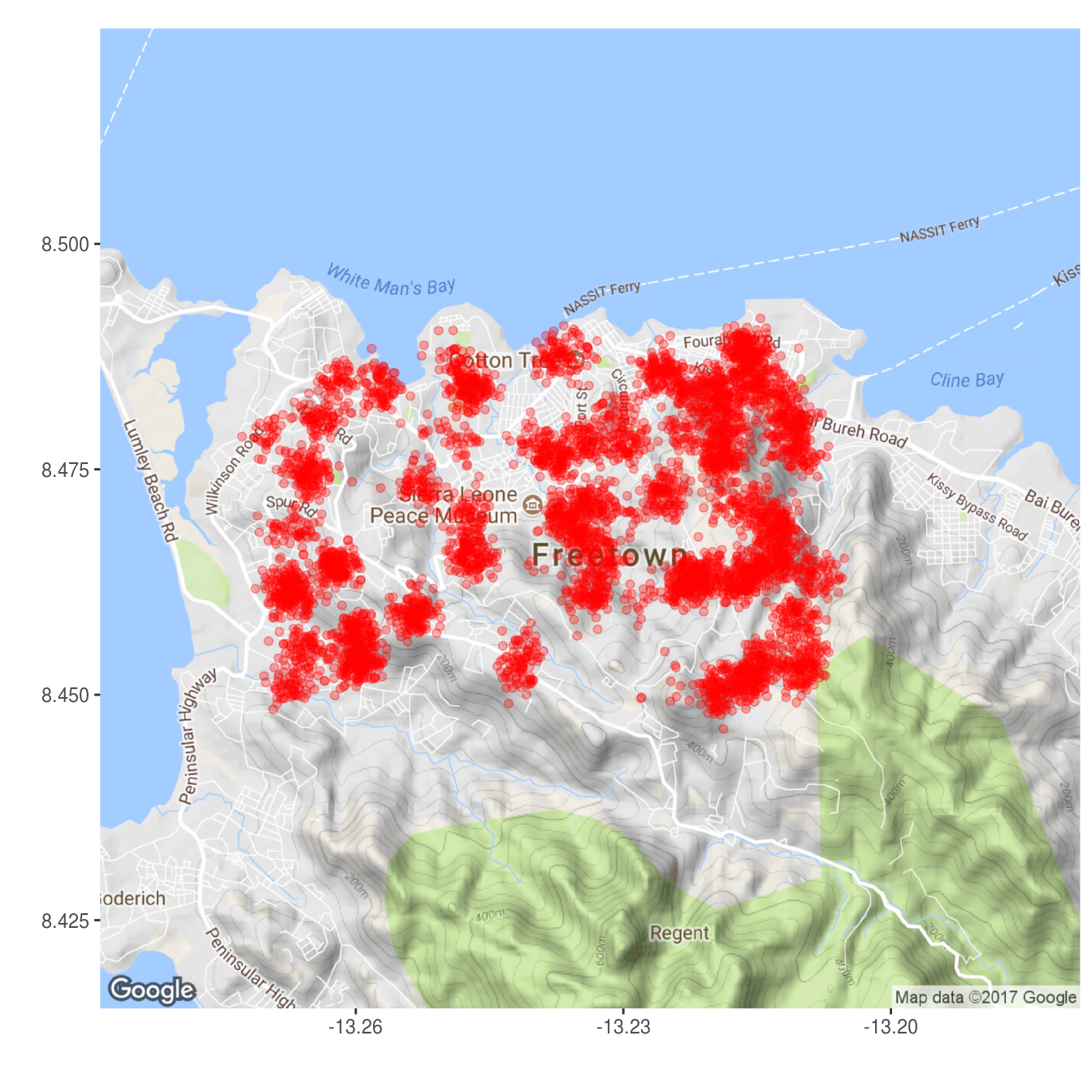 Mapping point data - RECON mapping first aid
