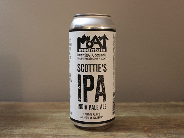 Scottie's IPA is an India Pale Ale brewed by Moat Mountain Brewing Company