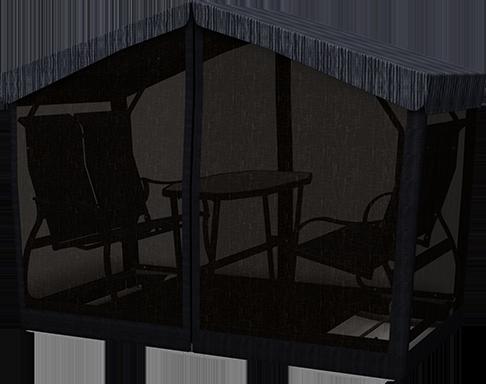 Metal Glider Swing Screen Shelter