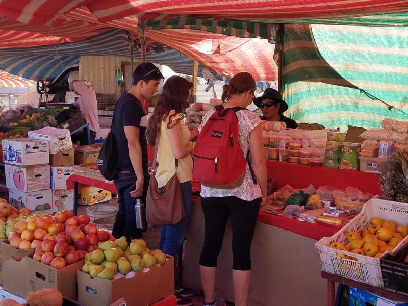 Open air market in San Pedro de Atacama
