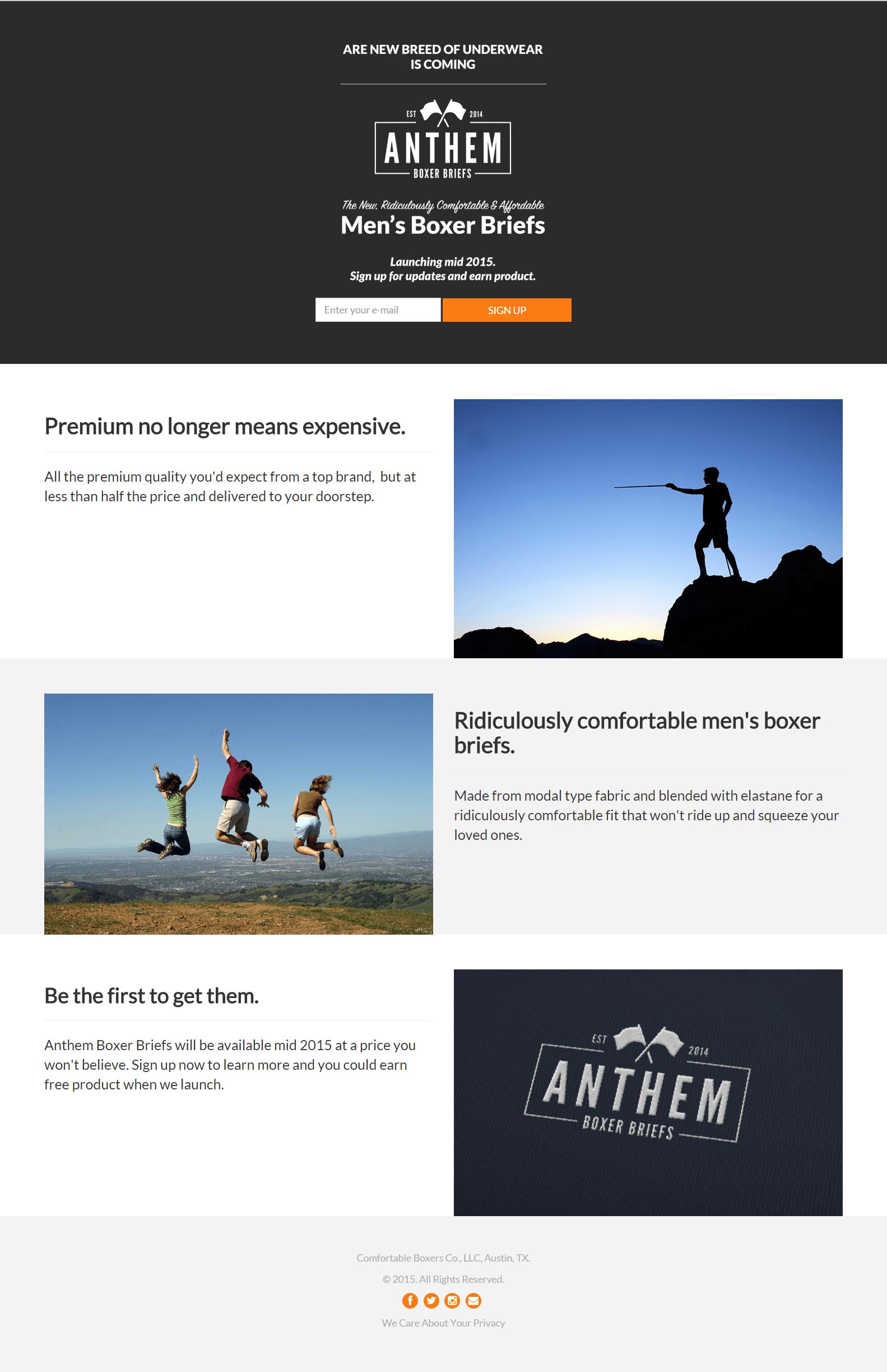 anthem starter kol page