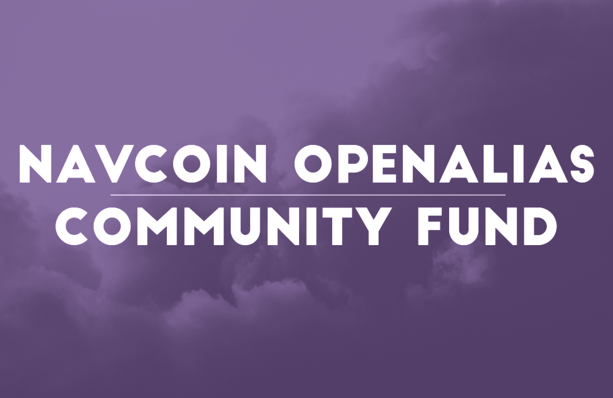 NavCoin OpenAlias & Community Fund Testing