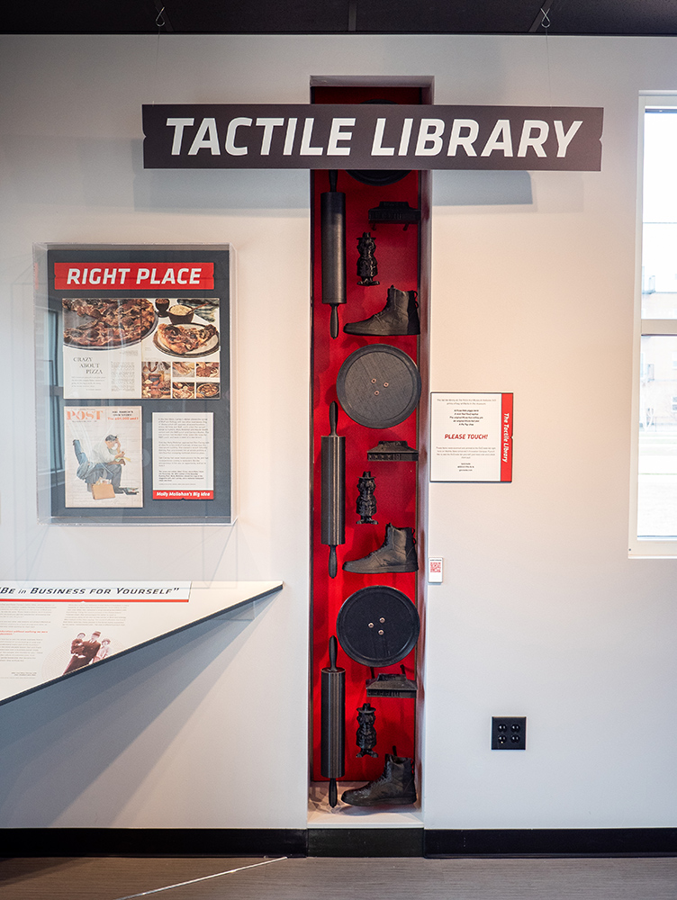 Pizza Hut Museum tactile library
