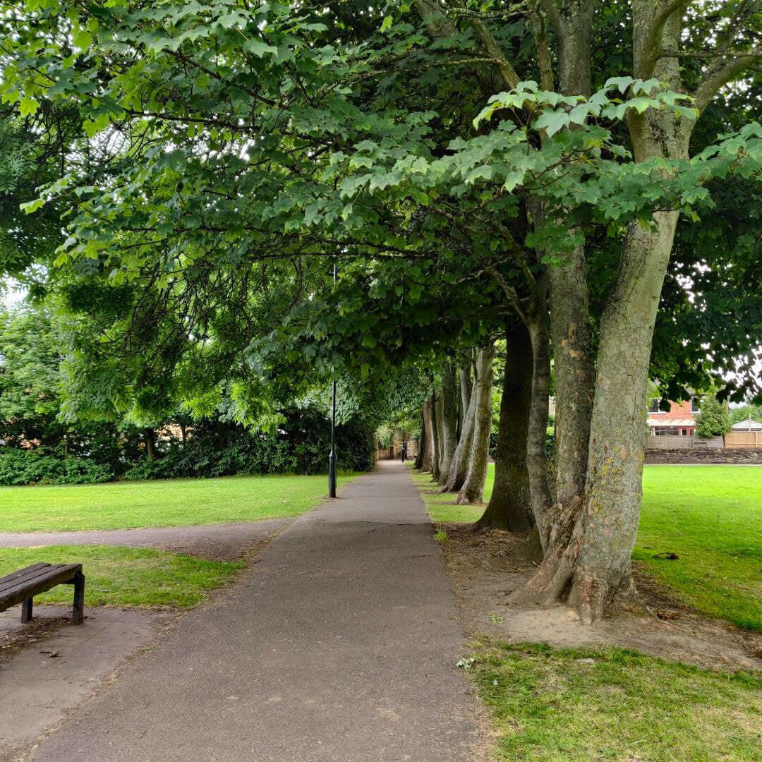 Westroyd Park path and benches