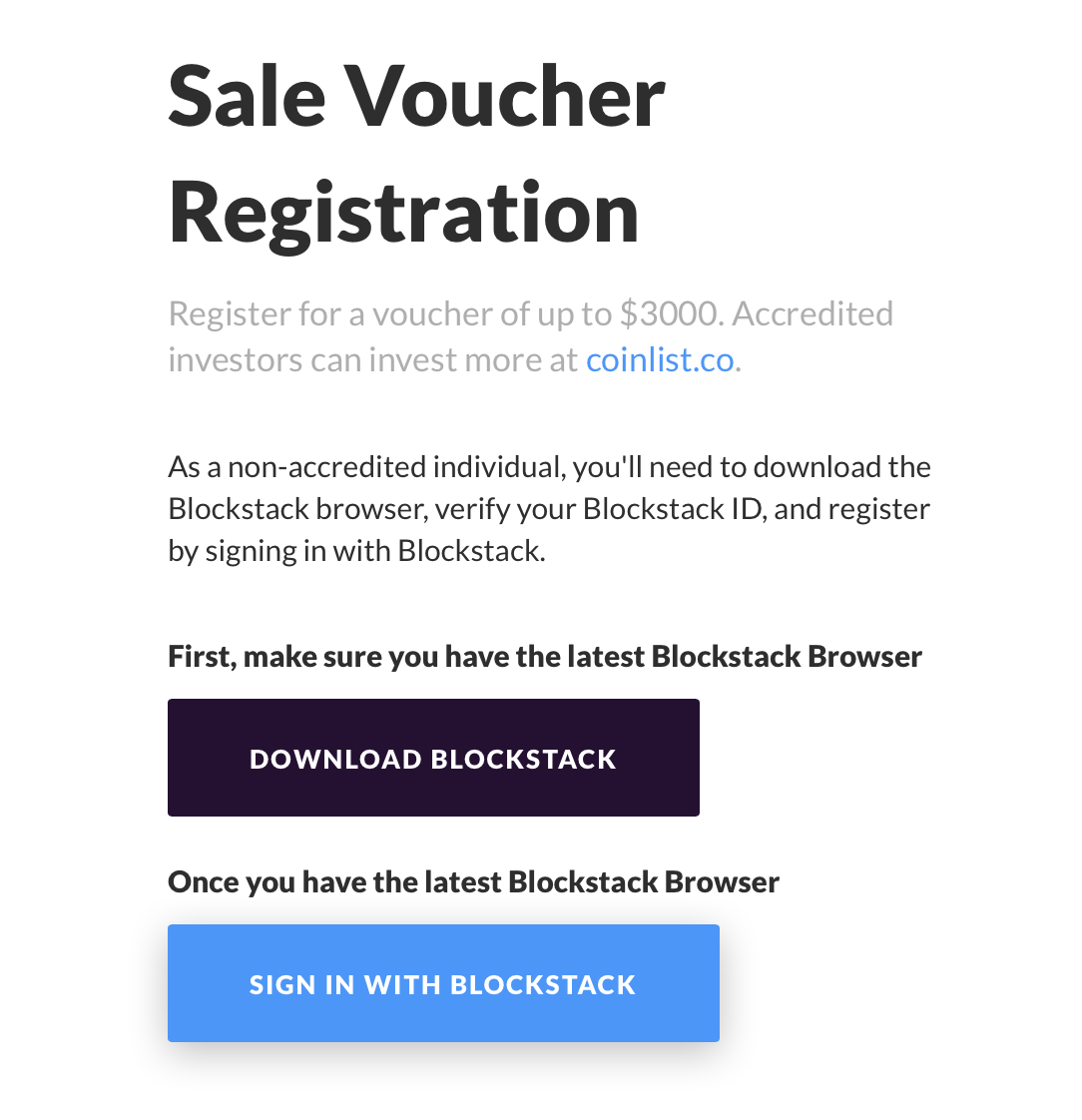 Sign in with Blockstack